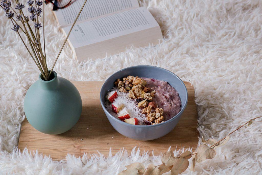 porridge aux fruits rouge