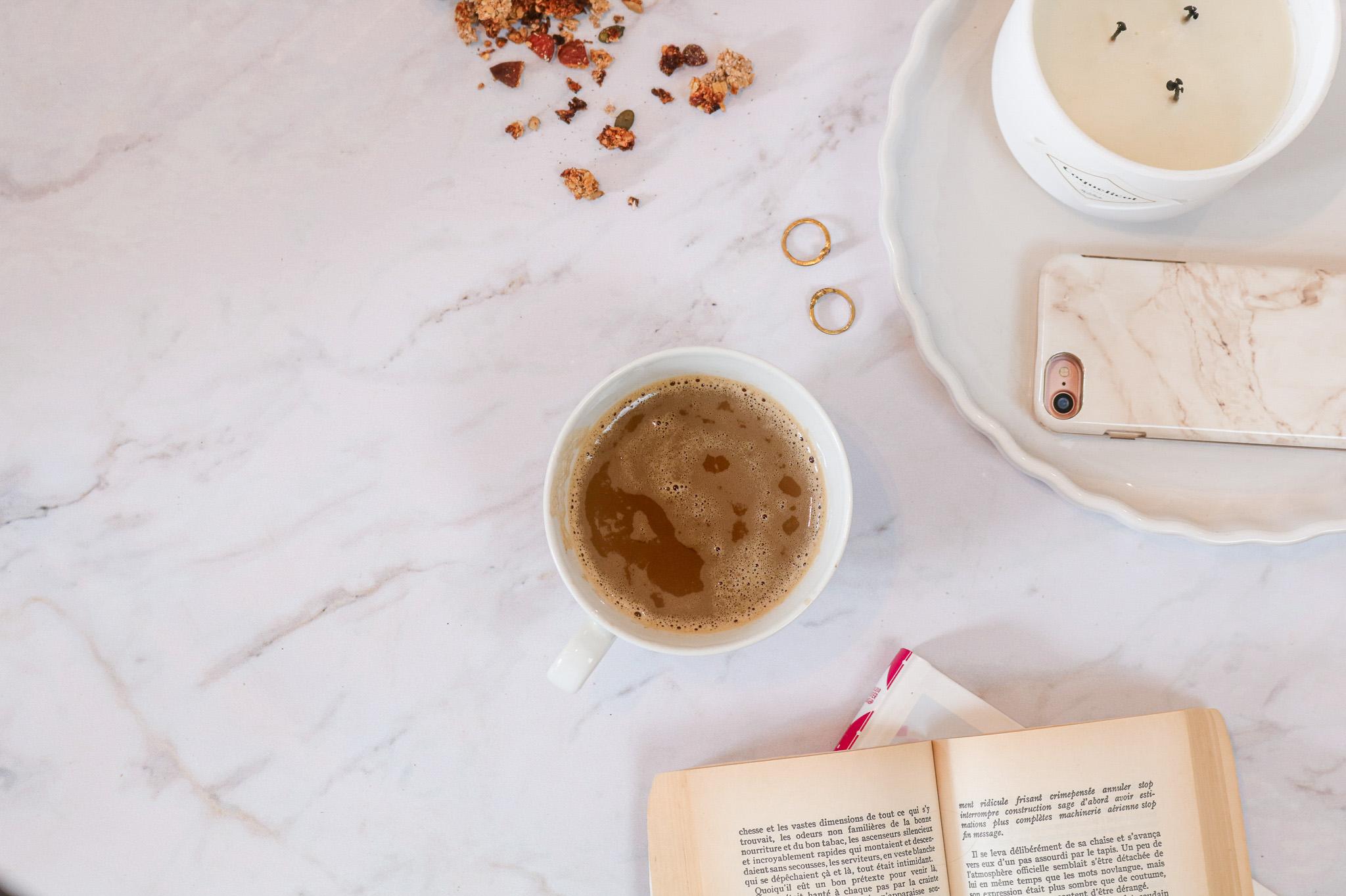 café flatlay pinterest