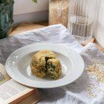 recette rapide et healthy bowlcake chèvre épinard