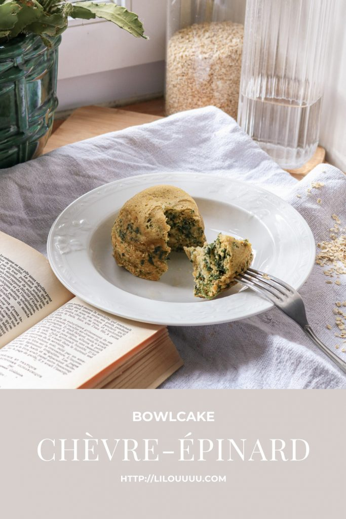 recette rapide et healthy bowlcake chèvre épinard pinterest