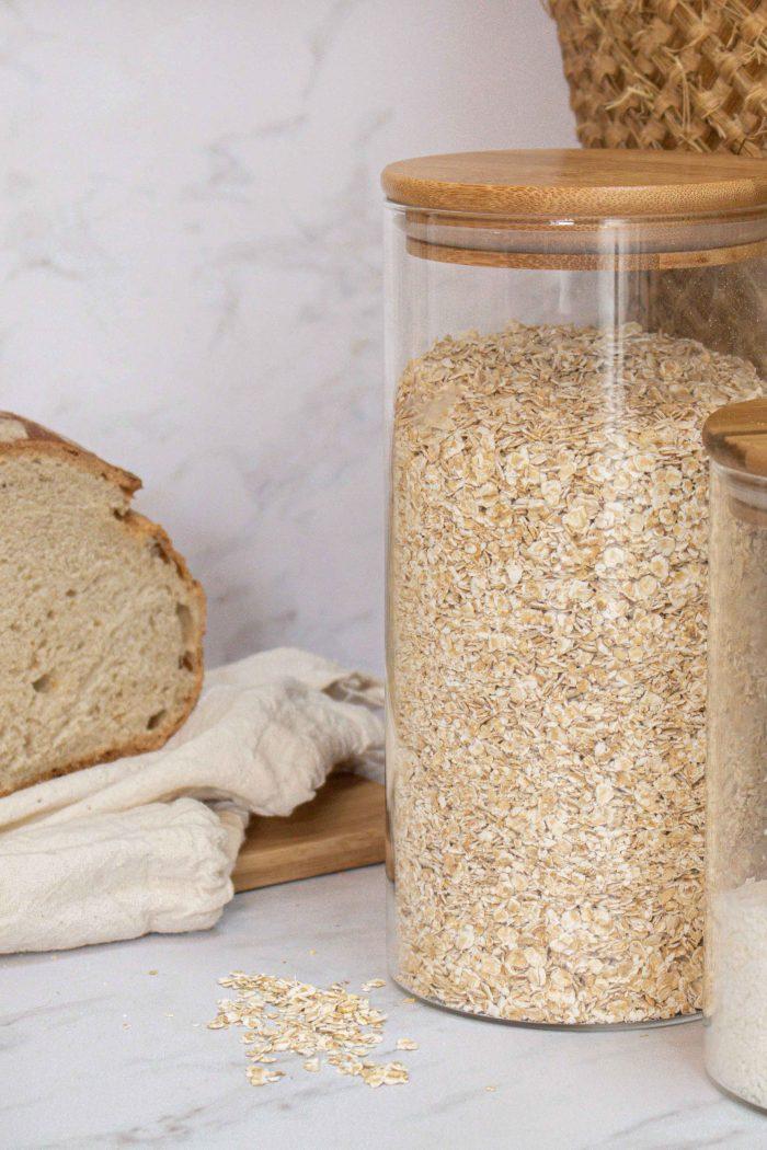 pain et bocaux en verre zéro déchet