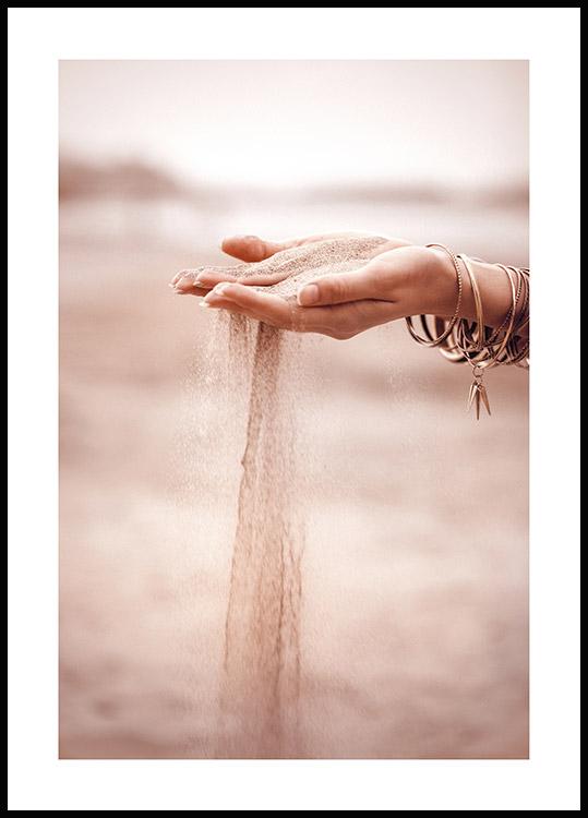 affiche chute de sable poster store